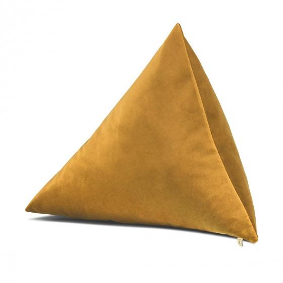 Divino Cushion, Mustard Velvet