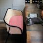 Cavallo Sofa, Pink Velvet with Black Lacquered Frame