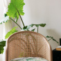 Cavallo Armchair, Banana Tree Print with Natural Frame
