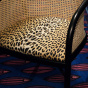 Cavallo Armchair, Panther Print with Black Lacquered Frame
