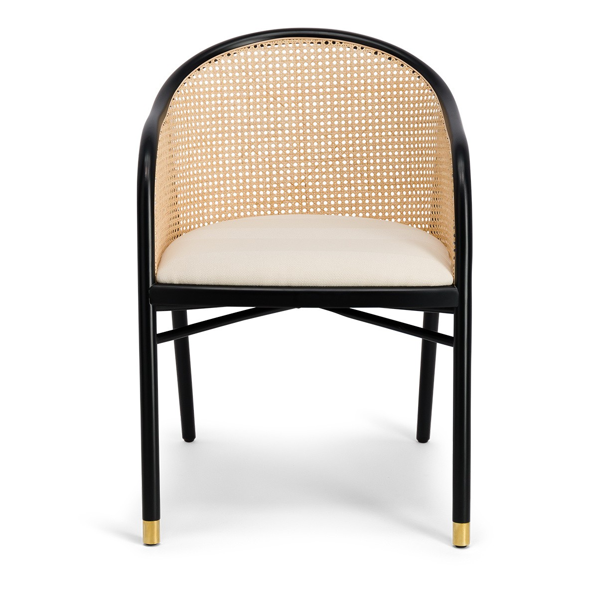 Cavallo Armchair, Kvadrat / Raf Simons Cream White Wool with Black Lacquered Beechwood Frame - Limited Edition