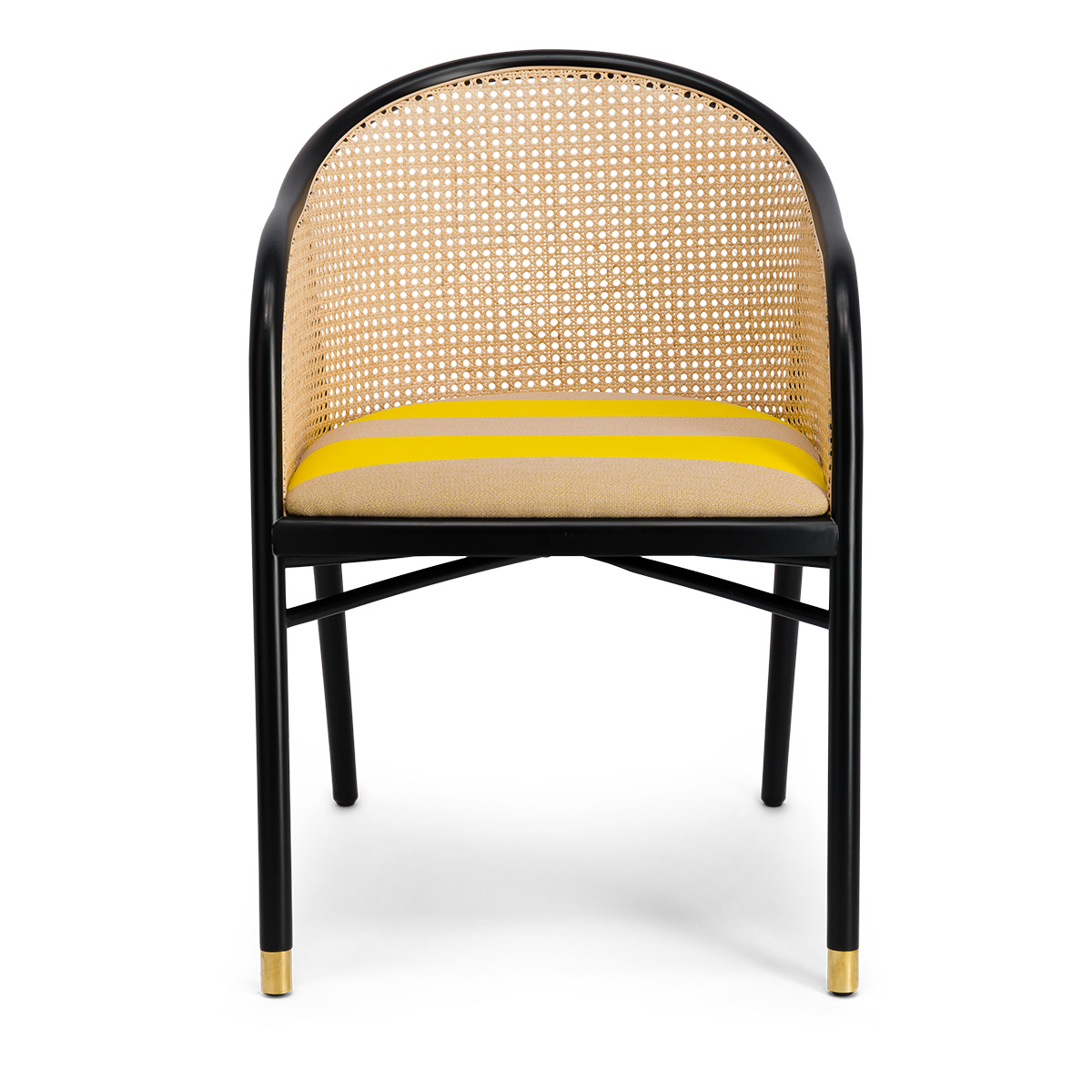 Cavallo Armchair, Kvadrat / Raf Simons Yellow Wool with Black Lacquered Beechwood Frame - Limited Edition