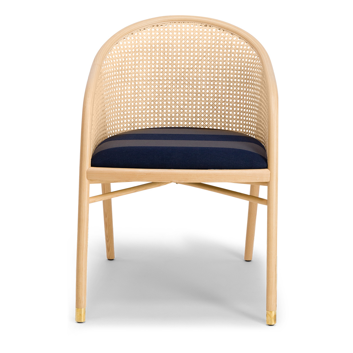 Cavallo Armchair, Kvadrat / Raf Simons Navy Blue Wool with Natural Frame - Limited Edition