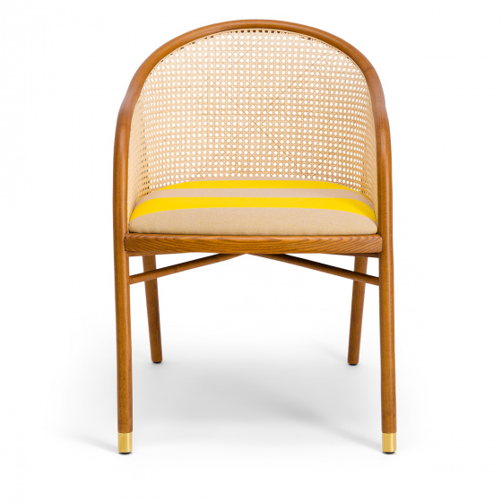 Cavallo Armchair, Kvadrat / Raf Simons Yellow Wool with Cherrywood Frame - Limited Edition