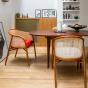 Cavallo Armchair, Kvadrat / Raf Simons Orange Wool with Cherrywood Frame - Limited Edition