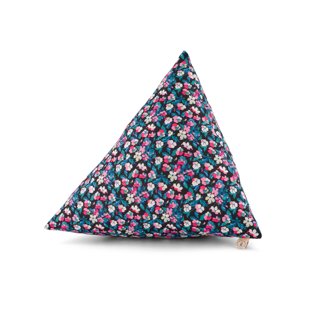 Divino Cushion, pink and blue Liberty cotton