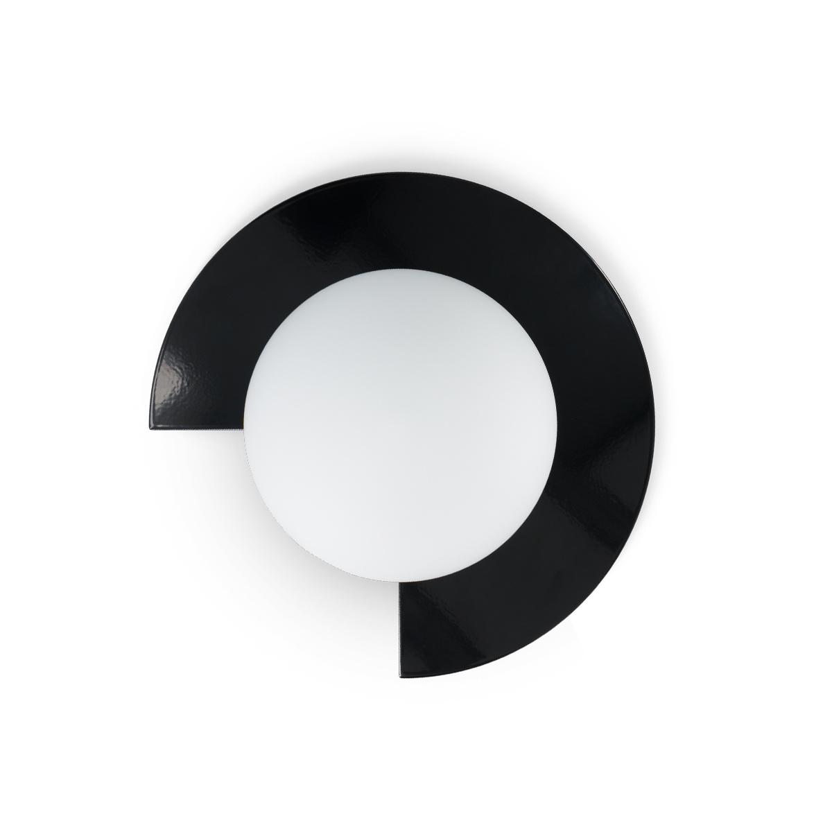 Mezza Luna Wall Lamp, Black