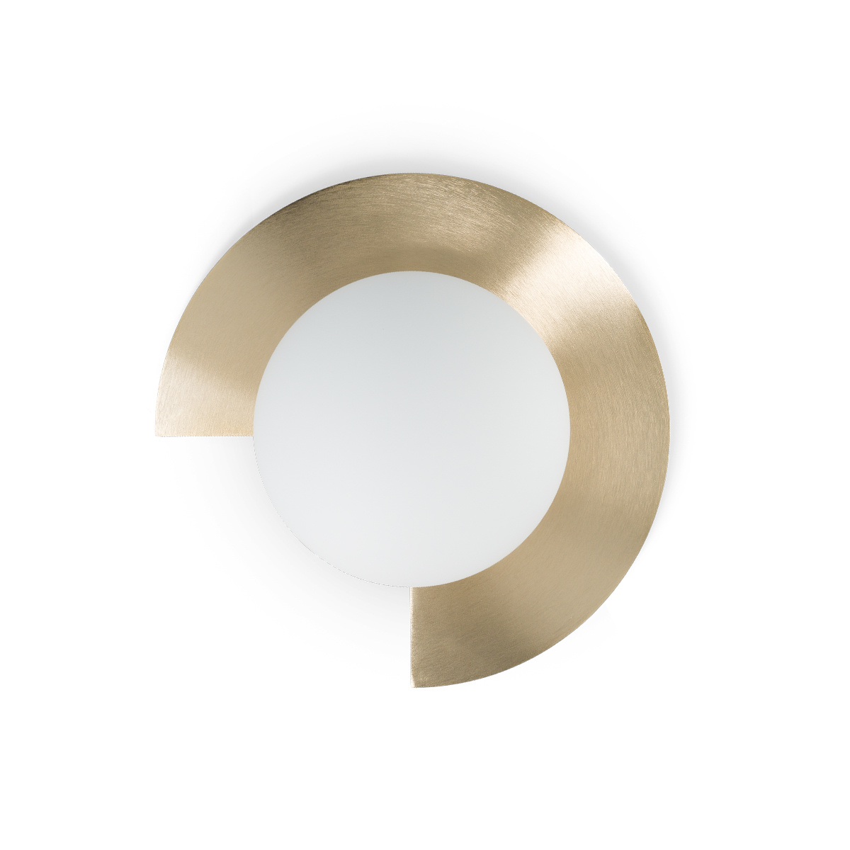 Small Mezza Luna Wall Lamp, Brushed Brass
