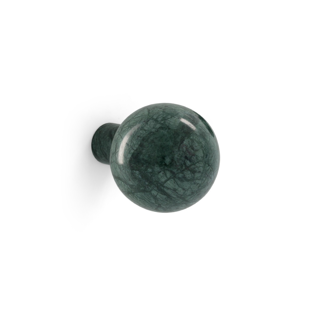 Coat Hook Alma, Green Marble