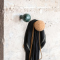 Coat Hook Alma, Black Marble