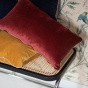Carino Cushion, Brick Red Corduroy Velvet