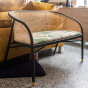 Cavallo Sofa, Pampa Print with Black Lacquered Frame