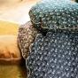 Bomboloni cushion with precious black pattern