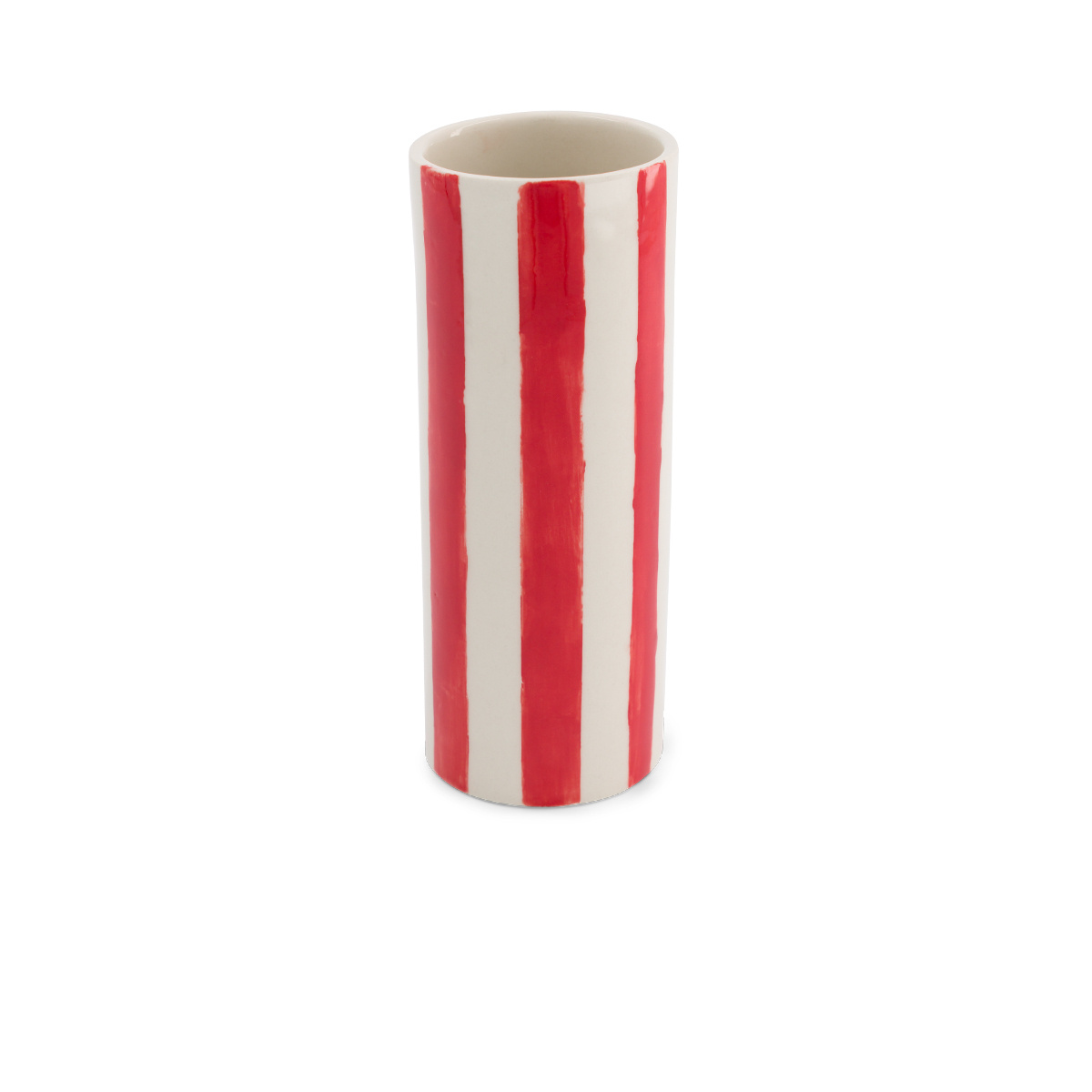 Domino pot large model with red pattern