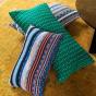 Viaggio Cushion Blue print