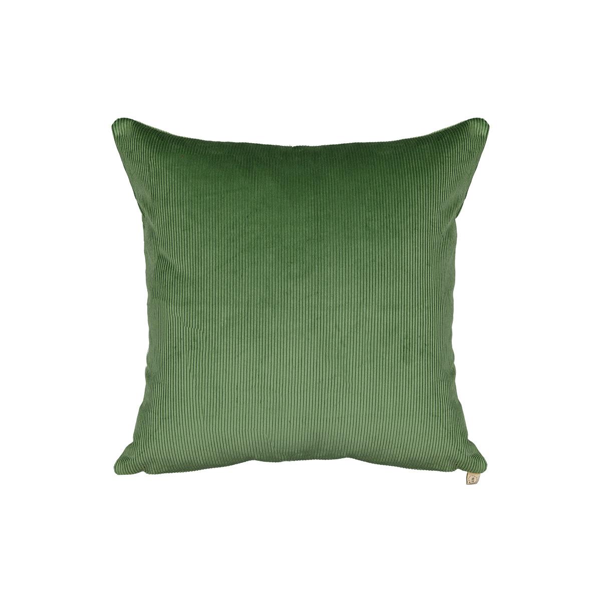 Carino almond green corduroy cushion