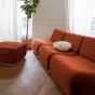 Rotondo Footstool in Terracotta Velvet