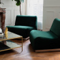 Rotondo Corner Fireside Chair in Fir Green Velvet