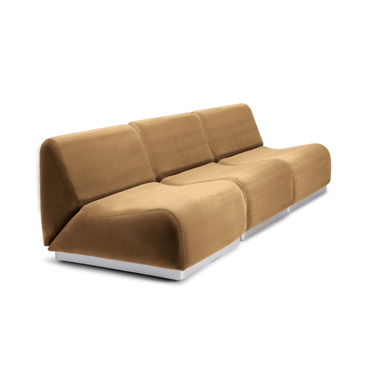 Rotondo Modular Sofa in Cappuccino Velvet