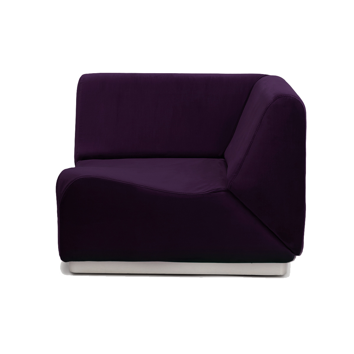 Rotondo Corner Fireside Chair in Plum Velvet