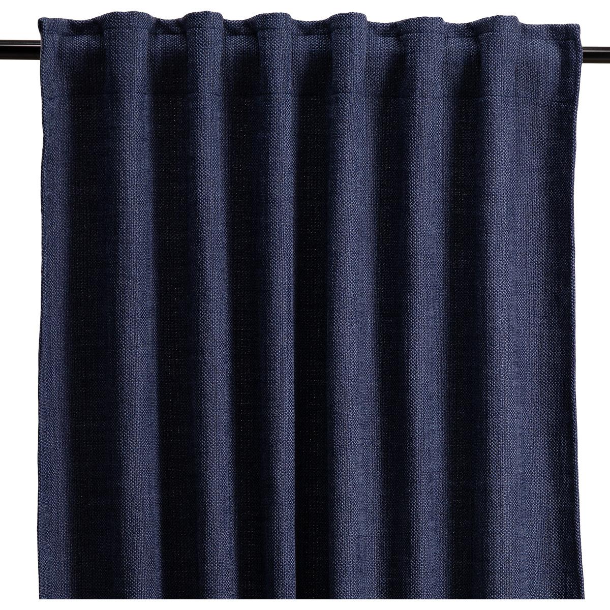 Navy Blue Materia Curtain
