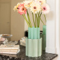 Anise Green and Almond Green Duetto Vase