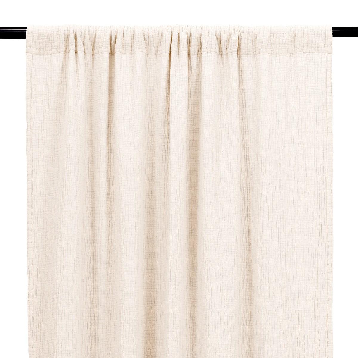 Cream White Cotton Gauze Bambina Curtain