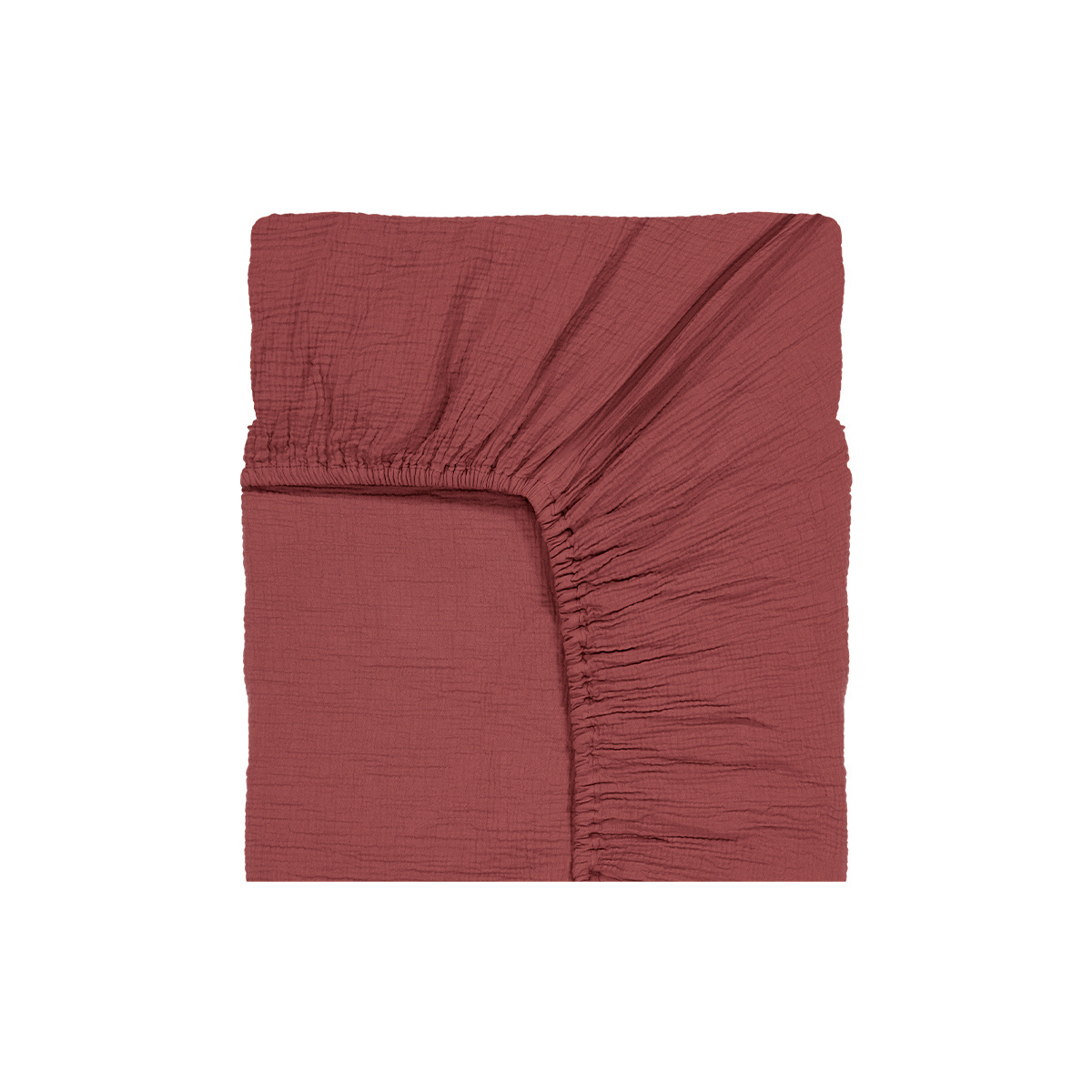 Como Fitted Sheet Brick Red