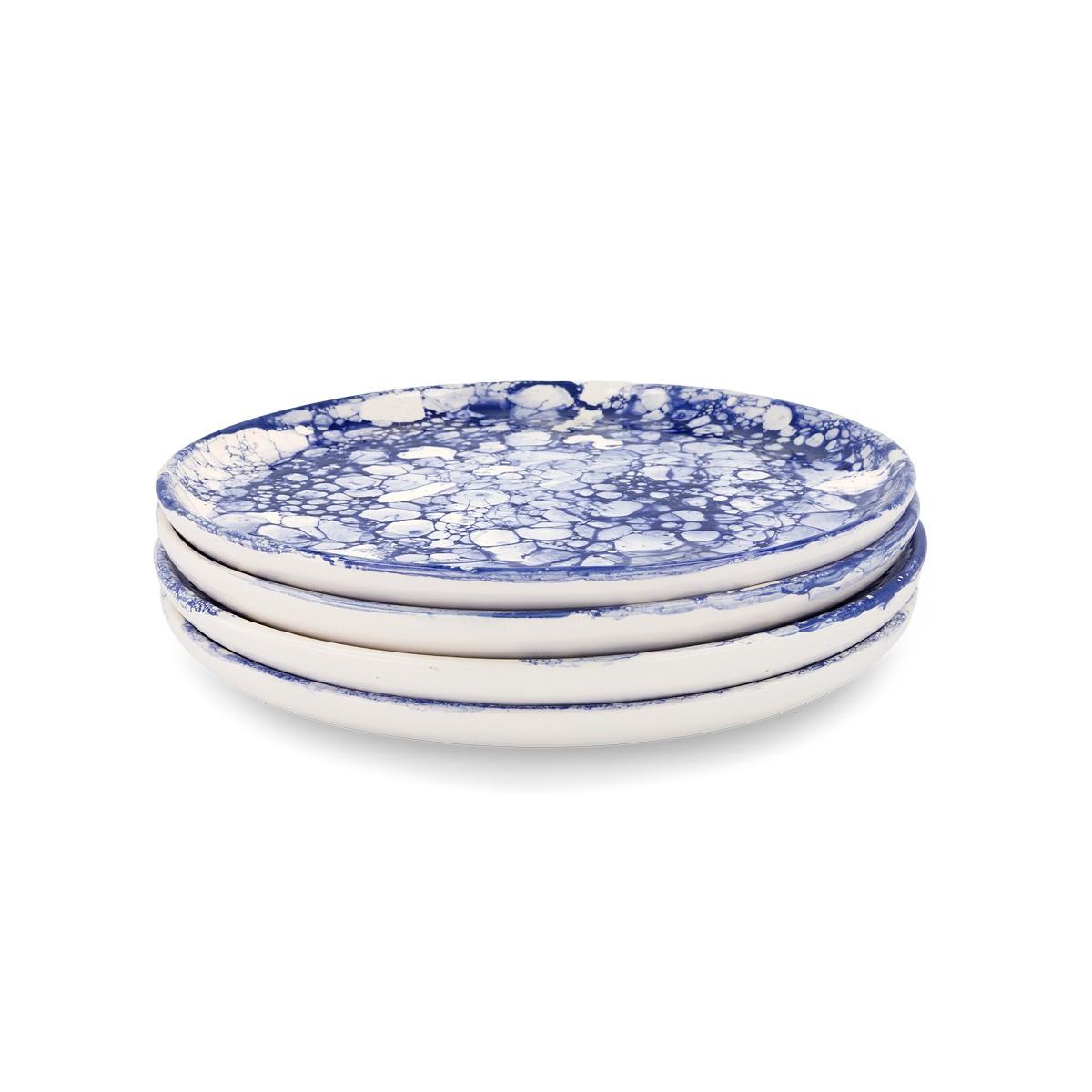 4 Blue Bolle Dinner Plates