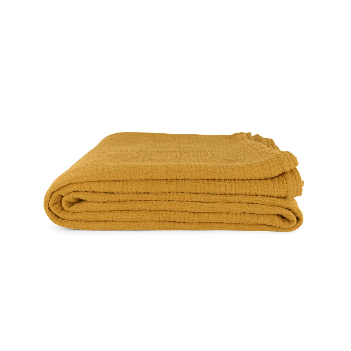 Allegra Tablecloth in Mustard Cotton Gauze