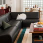 Rotondo Sofa in Black Leather