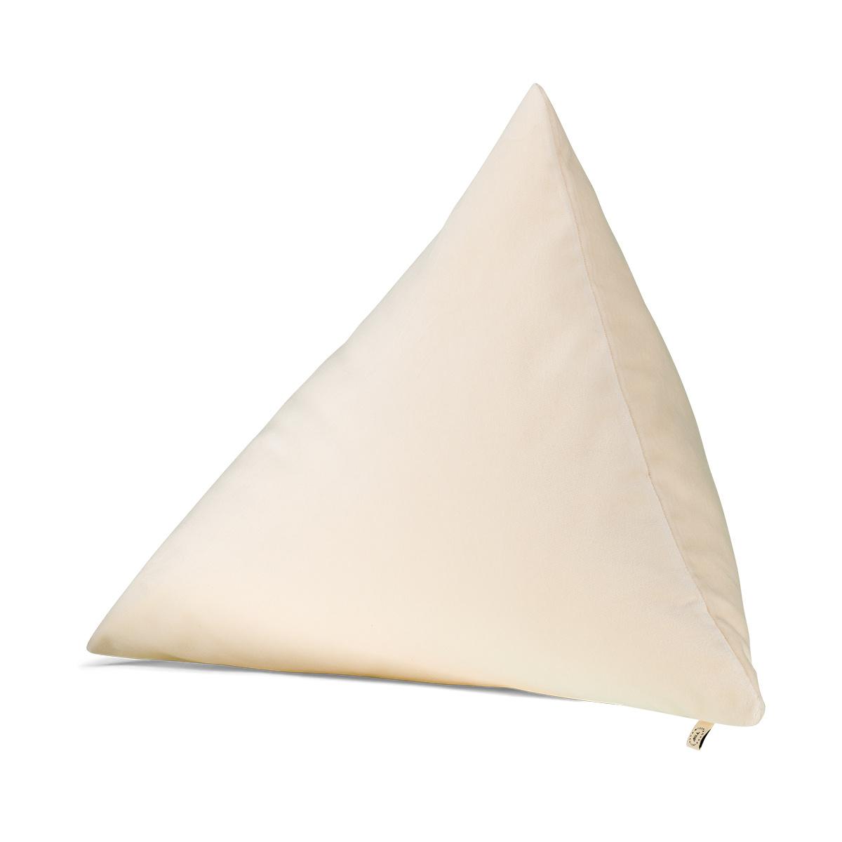 Coussin Divino velours blanc crème