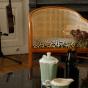 Fauteuil Cavallo brun imprime panthere