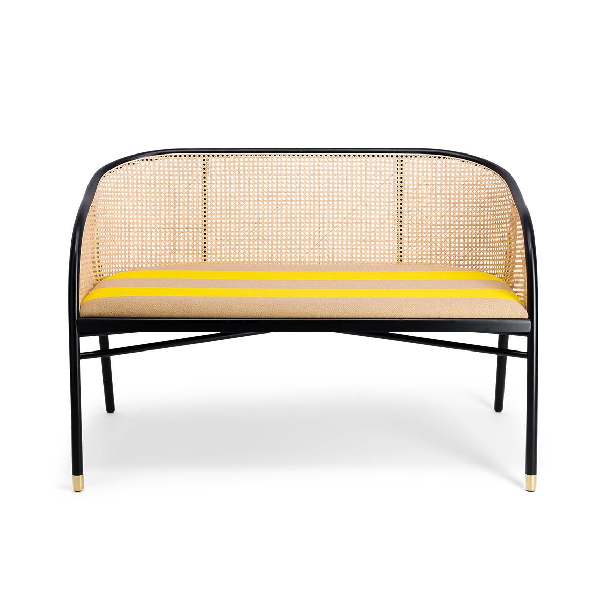 Banquette Cavallo noire Kvadrat/Raf Simons jaune
