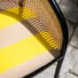 Fauteuil Cavallo noir Kvadrat/Raf Simons jaune