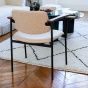 Chaise Pio bois brun feutre beige