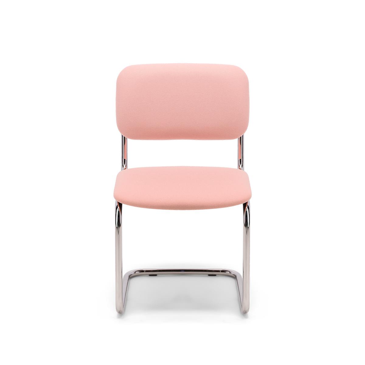 Chaise Classica feutre rose poudré