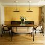 Banquette Cavallo noire velours jaune