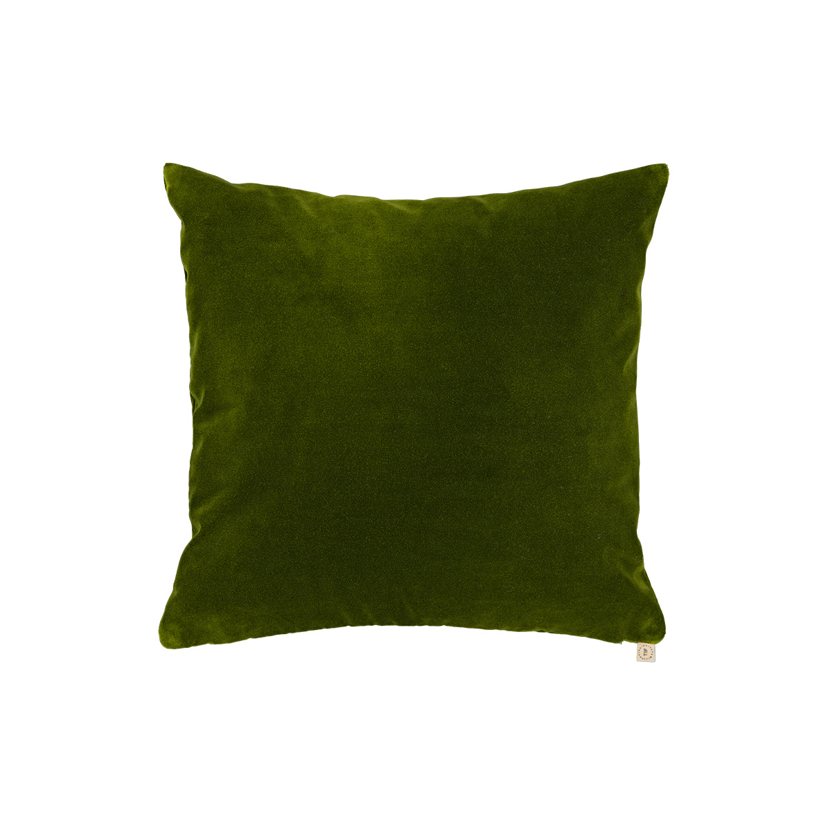 Coussin Carino velours vert sapin