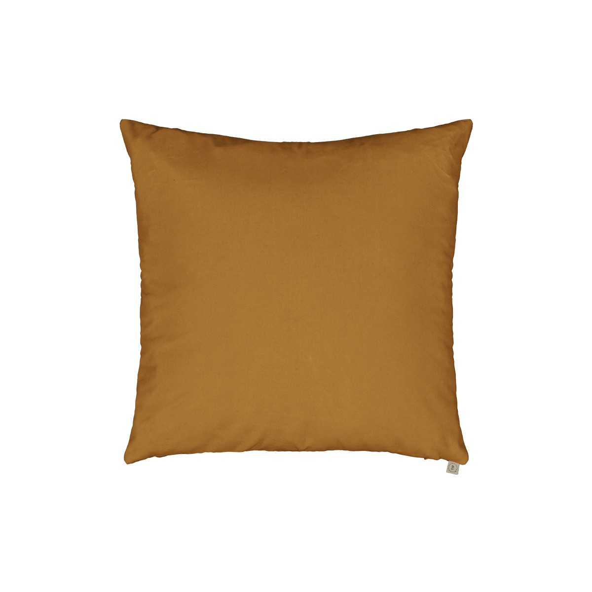 Coussin Carino velours moutarde