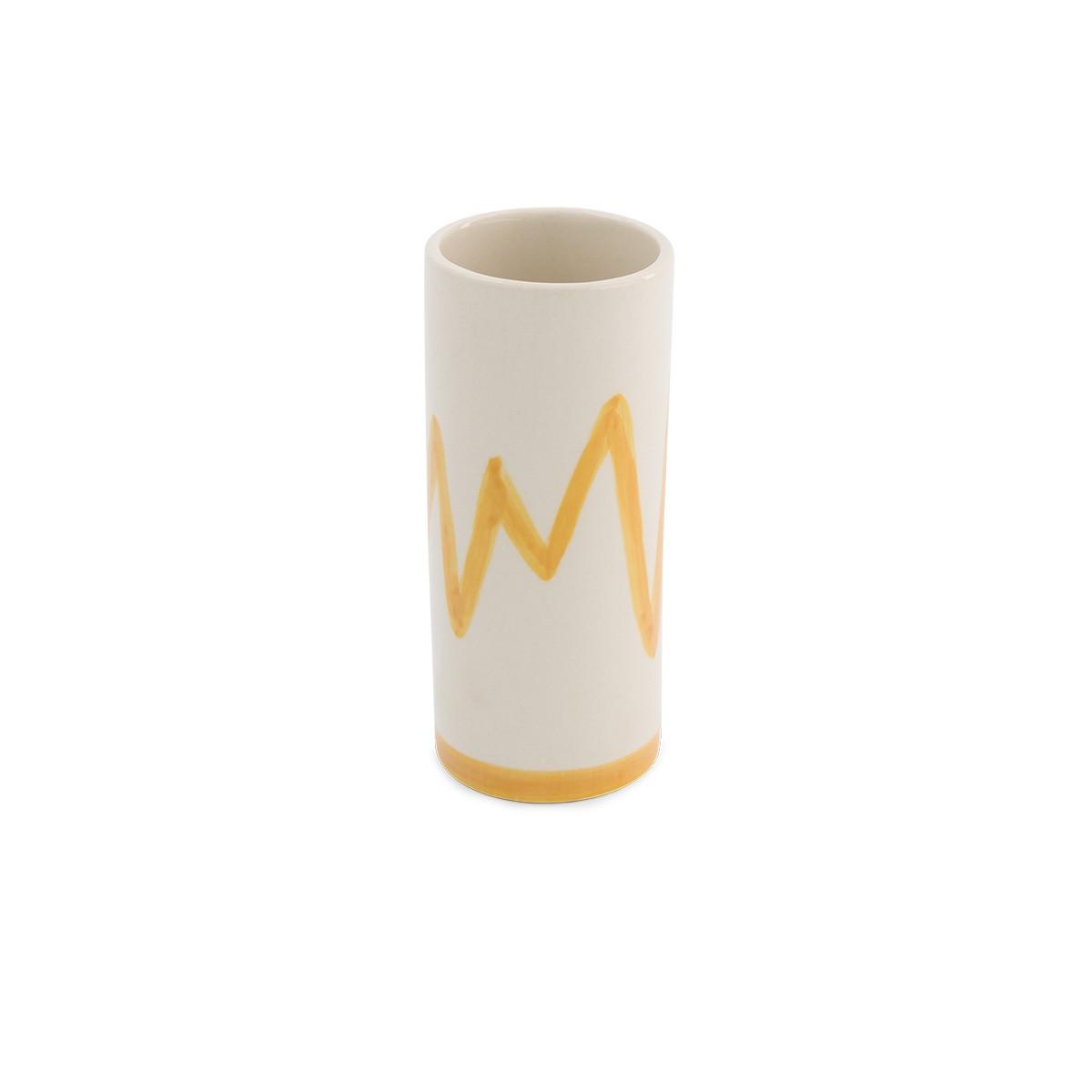 Pot Domino moyen modèle motif moutarde