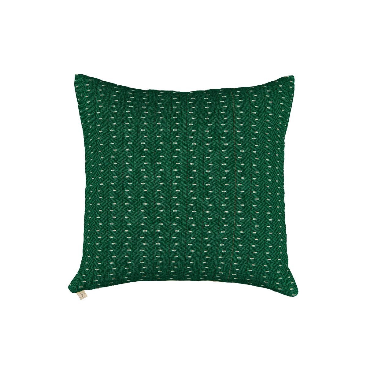 Coussin Viaggio motif vert