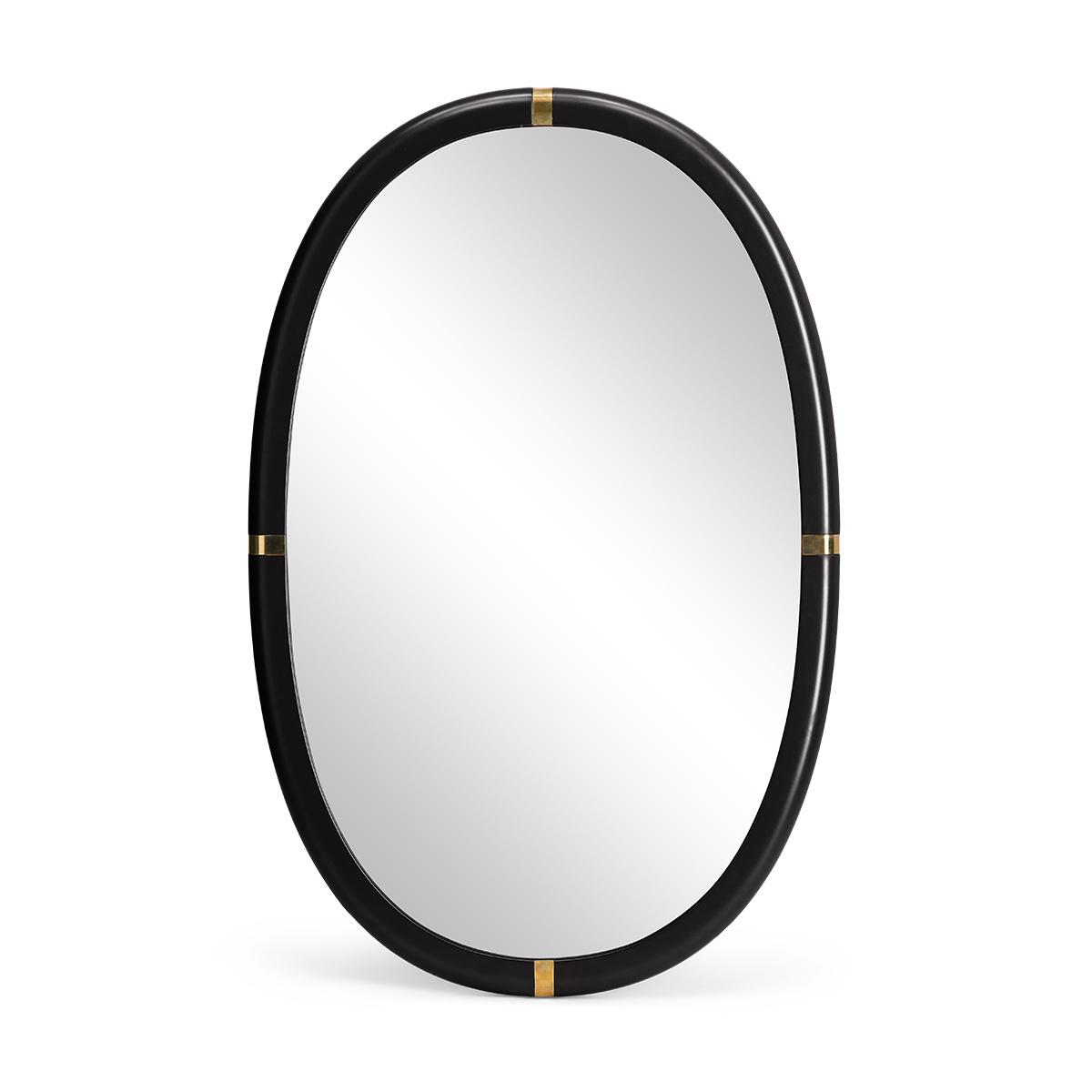Miroir Marcello laqué noir