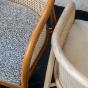 Fauteuil Cavallo brun laine bouclette noire et blanche
