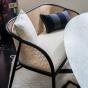 Banquette Cavallo noire laine bouclette blanc crème