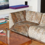 Module d'angle Rotondo en velours Roseanna jacquard léopard