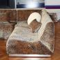 Chauffeuse modulable Rontondo en velours Roseanna jacquard léopard