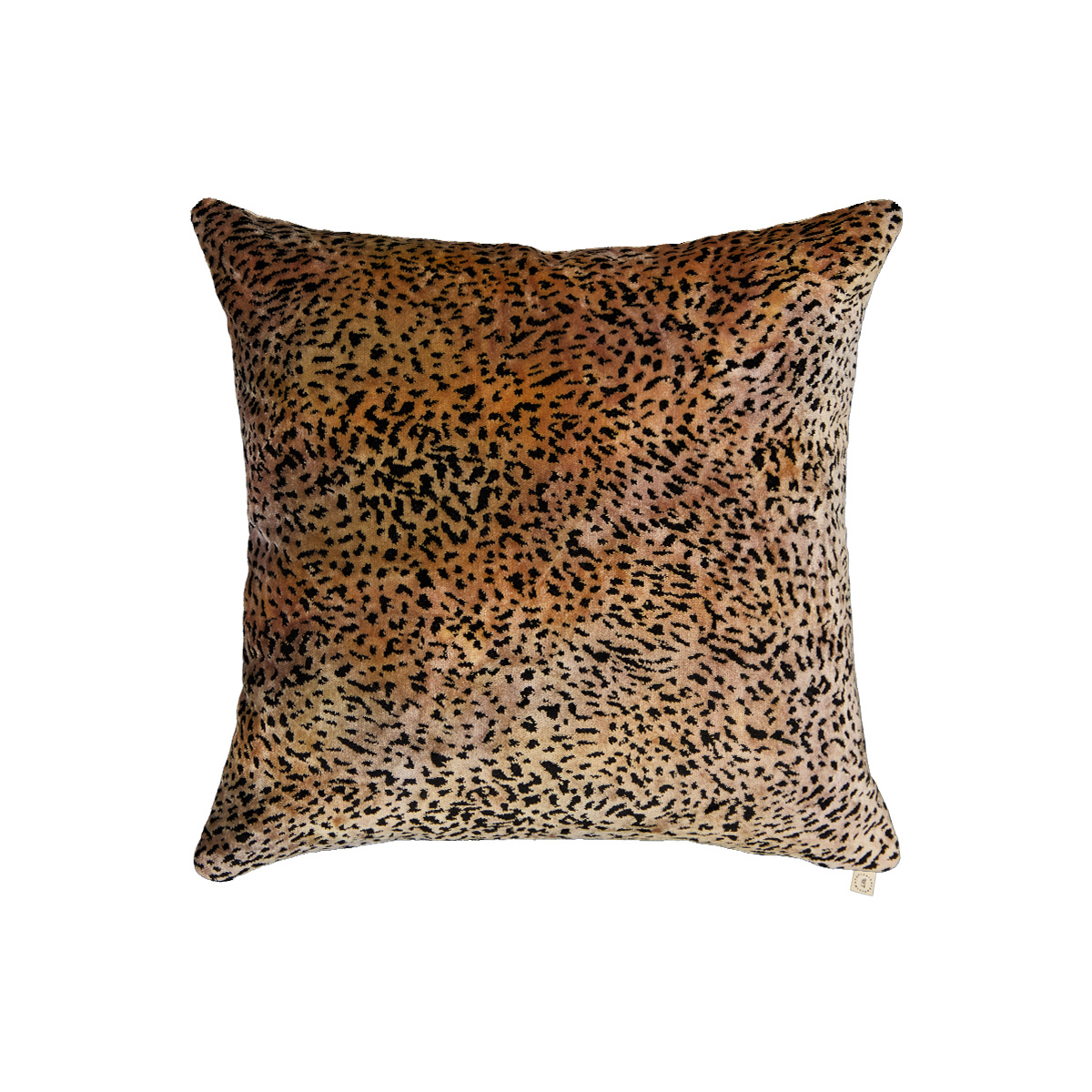 Coussin Carino carré en velours Roseanna jacquard léopard
