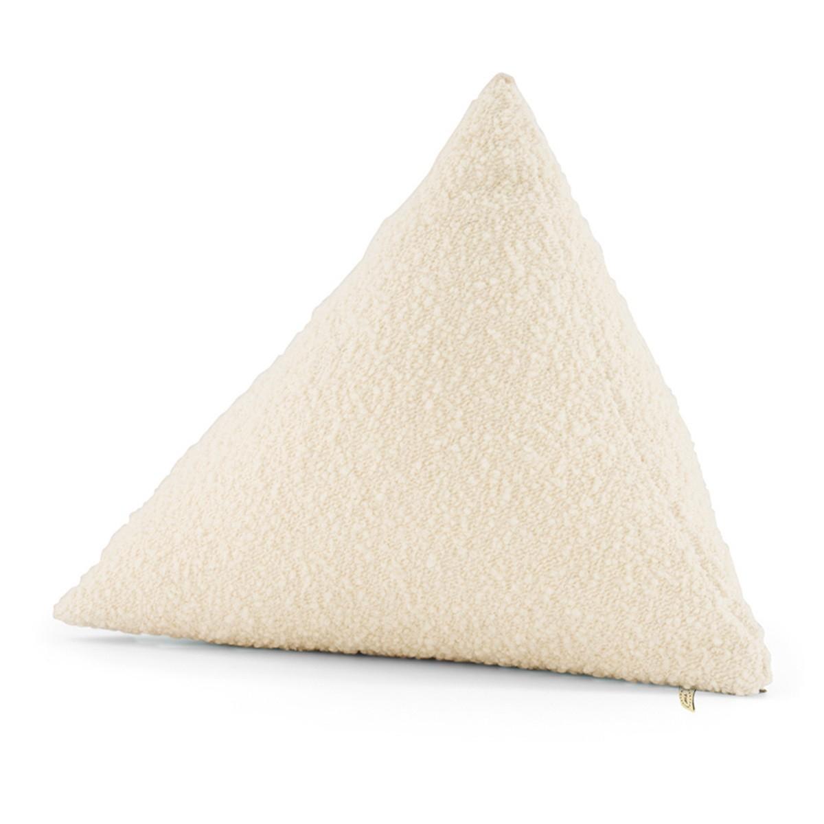 Coussin Divino laine bouclette blanc crème