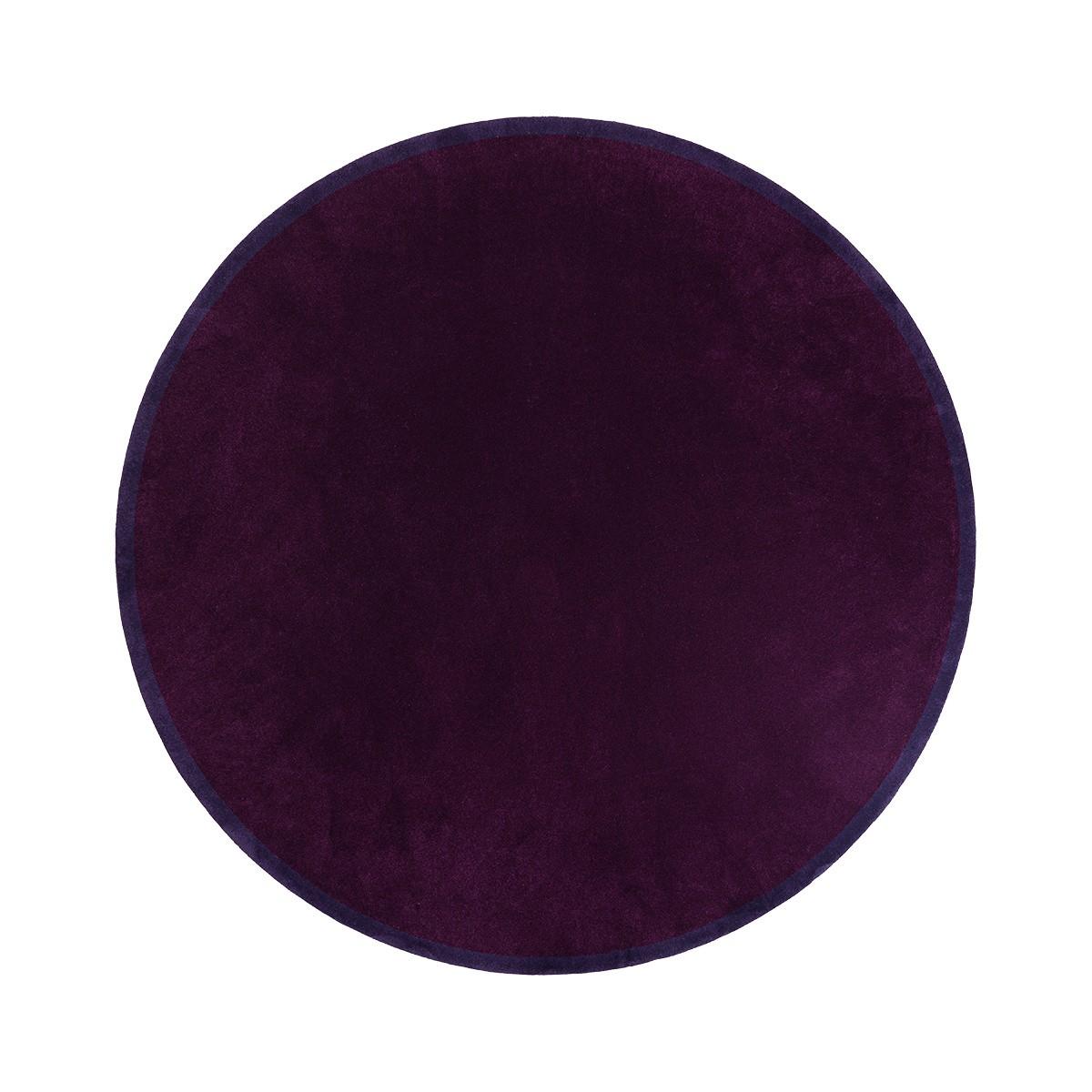 Tapis Luna rond violet